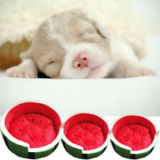 Dog Cat Pet Bed Soft Warm Round Puppy Washable Cushion Cozy Mat Pad House Cover