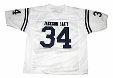 WALTER PAYTON #34 JACKSON STATE NEW MEN FOOTBALL JERSEY WHITE - ANY SIZE