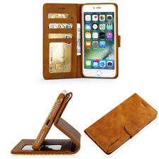 Luxury Wallet Case For iPhone Samsung Leather Cover Pouch Stand Flip Phone Case