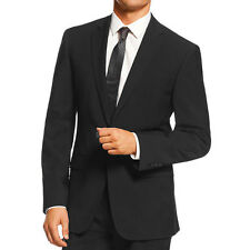 NWT CALVIN KLEIN Wool Black Solid Two-Button Slim Fit Suit Blazer Jacket $400