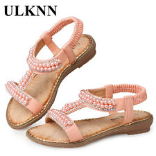 Children Sandals For Girls School Shoes Pearl Beading Pink Casual Shoes
