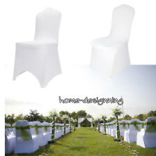 2-100pc Flat Arched Front Covers Spandex Lycra Chair Covers Wedding Party Decor