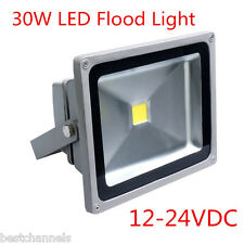 30 Watt DC 12-24V Outdoor LED Flood Light Waterproof Square Garden Spotlight