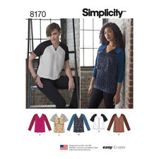 Simplicity Sewing Pattern Misses Easy to Sew V Neck Tunics and Tops   8170