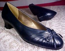 Woman Navy Blue Soft Style Hush Puppies Low Heel Dress Pump Shoes Sherleen Vegan