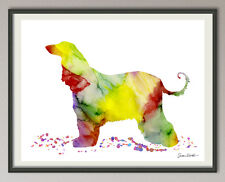 Afghan Hound Dog All Sizes - Art Print Art Print Poster Watercolors