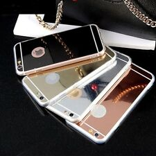 Ultra Luxury Mirror View Thin Soft Mirror Metal Case For Apple iPhone Models
