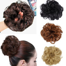 Hot Womens Curly Wave Hair Bun Clip Comb In Hair Extension Chignon Hairpiece Wig