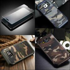 Camouflage Case Galaxy Note 8 Military Army Rugged Camo + TEMPERED GLASS