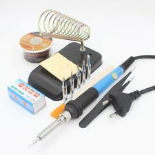 60W Electric Soldering Iron Welding Tool Kit Solder Wire Tweezers Suction Tin