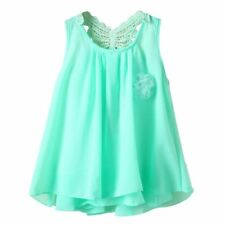 2-7 Y Baby Girl Summer Sundress Chiffon Vest Tutu Sleeveless Dress