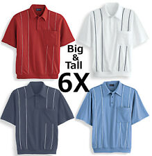 Mens 6X Polo Shirt Golf Comfortable Jersey With Sharp Contrasting Piping Big 6XL