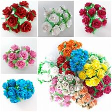 Rose Card Craft Handmade Flower Scrapbooking Wedding 25mm DIY Mulberry Paper