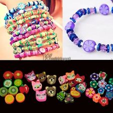 100 PCS Clay Beads DIY Slices Mixed Color Fimo Polymer Clay WT8805