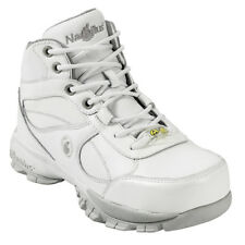Nautilus Mens Steel Toe Athletic M White Action Leather Shoes
