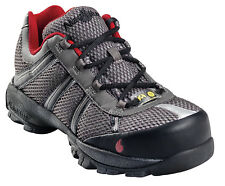 Nautilus Mens Steel Toe ESD Athletic M Grey/Red Action Leather Shoes