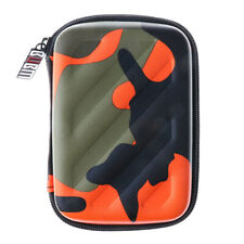 Portable Shockproof PU Carrying Case Bag for HDD/Headsets/ Cable Camouflage