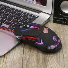 Wired Gaming Mouse 3200 DPI LED Optical USB Gamer Computer Mice Cable Light