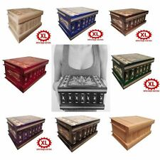 Secret Wood Handmade BOX Safe HIDDEN Storage Large Compartment with Lock COLORS