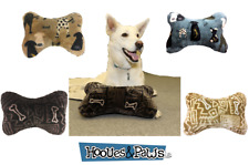Dog Deluxe Pillow Plush Ultra Paws Bed Soft Pet Foam Lounger Nap Dogs Bone Shape