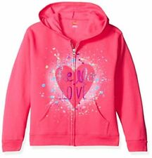 Hanes Big Girls' Ecosmart Graphic Full-Zip Fleece Hoodie - Choose SZ/Color