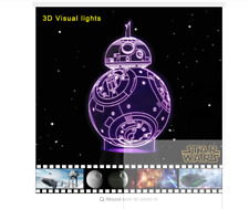 Star Wars BB-8 Robot 3D Table Lamp LED Colorful Table Night Light