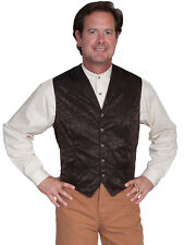 Scully Wahmaker Mens Chocolate 100% Silk Exquisite USA Big Twin City Vest