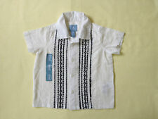 NWT BABY GAP BOY'S EMBROIDERED WOVEN DRESS SHIRT 100% COTTON, All SEASONS