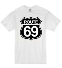 Route 69 Funny Rude Offensive Highway Sex Humour Kids Cotton TShirt T Shirt