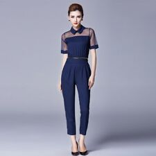 Women Zipper Detachable Chiffon Long Pants Rompers Women Jumpsuit Overalls