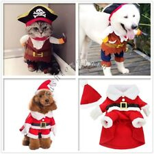 Halloween Christmas Puppy Pet Dog Cat Pirate Jumpsuit Clothes Costume Outfit Set