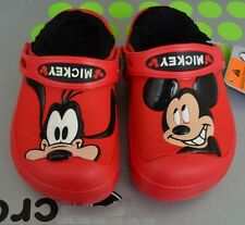 Kids Creative Mickey Mouse &Goofy Lined Clogs-croc Toddler Winter Sandals Unisex