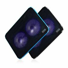 Double Cooling Fan LED Light Laptop Notebook Cooler Radiator Cooling Pad GT