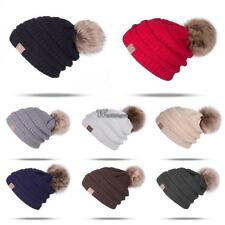 Winter Warm Casual Unisex Knitted Ski Beanie Hat Fleece Lined with WT88