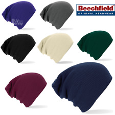 Beechfield BEANIE HAT SLOUCH BAGGY OVERSIZED STYLE SOFT KNITTED WINTER UNISEX