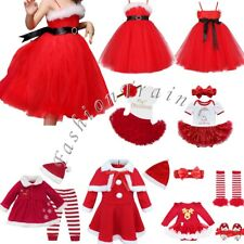 My 1st Christmas Infant Baby Girls Romper Tutu Skirt Dress Party Outfit Costume