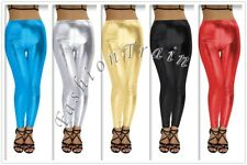Sexy Women's Stretchy Faux Leather Wet Look Clubwear Party Tight Leggings Pants