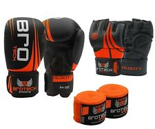 Brotech Boxing Gloves Velocity MMA Gloves Hand Wraps spparing gloves Muay thai