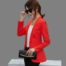 Women New Red Color Spring Single Button Long-sleeved Jacket