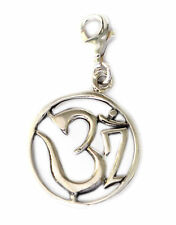 Hindu Aum Ohm Om Silver Pewter Charm Necklace Pendant Jewelry