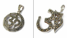 Ohm Aum Om Handcrafted Silver Pewter Charm Necklace Pendant Jewelry