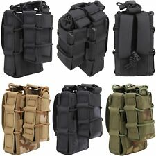 MOLLE Tactical Double Decker Rifle Pistol Pouch Magazine Bag Military Hunting