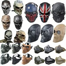 Outdoor War Game Metal&Mesh Paintball Airsoft Tactical Cacique Full Face Mask