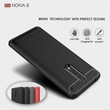 Brushed TPU Carbon Fiber Texture Rugged Rubber Soft Case Cover For Nokia 8/6/5/3