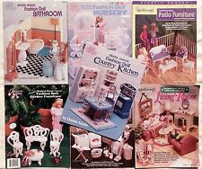 * Plastic Canvas Barbie Fashion Doll Furniture Pattern Books  YOU CHOOSE