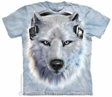 White Wolf DJ T-Shirt in Adult Sizes - Wolves by The Mountain T-Shirts