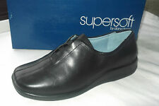 BRAND NEW WOMENS SUPERSOFT BY DIANA FERRARI BLACK LEATHER SHOES SZ 8/9/10/11