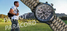 NEW! Timex Expedition Tachymeter Watch w/ Handmade Paracord 550 Watch Band
