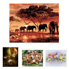 DIY Diamond Painting Embroidery Cross Stitch Animal Wall Hanging Art Crafts
