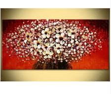 Original Flower Hand Painted palette knife Canvas Oil Painting Home Decoration